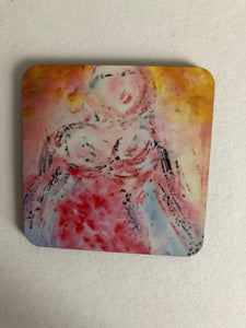 "Coaster ""Flicka vid havet (Girl by the sea)"""