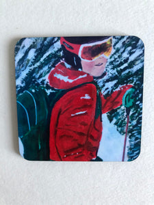 "Coaster ""I skidspåret (Cross- country skiing)"""