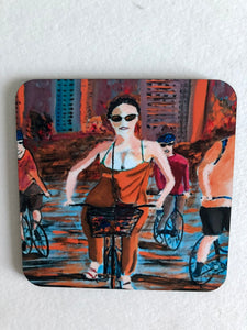 "Coaster ""Storstadscykling (Biking in the city)"""