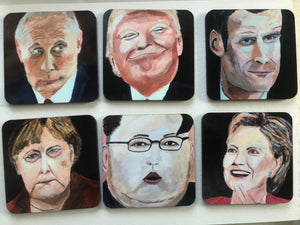 Coaster set of international politicians 2