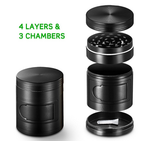 Luxury 4 Tier Grinder Stainless Steel Pollen Screen