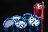 Electric Light LED 63MM  4 layer Aluminum Metal Herb Grinder Crusher