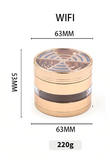 4 Layer Metal Grinder 63MM Creative splicing