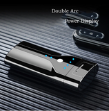 Flameless Double Arc Lighter Electric USB Plasma Touch Screen