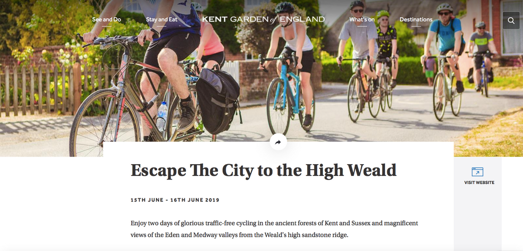 Our 'Escape the City to the High Weald' featured on VisitKent.co.uk