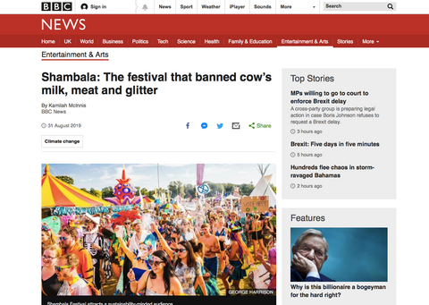 The Red Fox ride to Shambala featured on the BBC