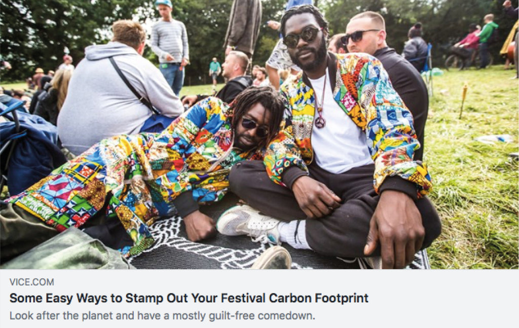 Red Fox Cycling featured in Vice's 'Easy Ways to Stamp Out Your Festival Carbon Footprint'