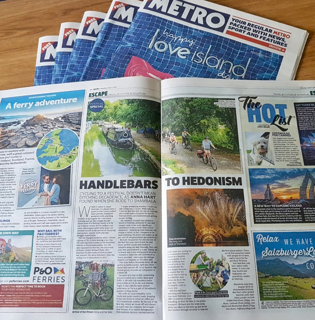 'Handlebars to Hedonism' Red Fox Cycling features in the Metro!