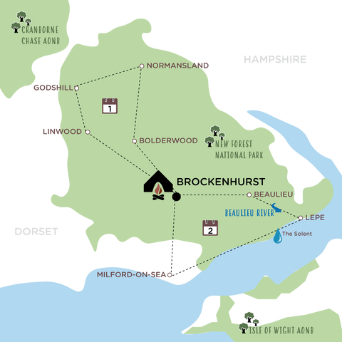 Escape the City to the New Forest Route