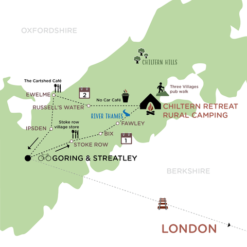 Escape the City to the Chiltern Hills illustrated route map