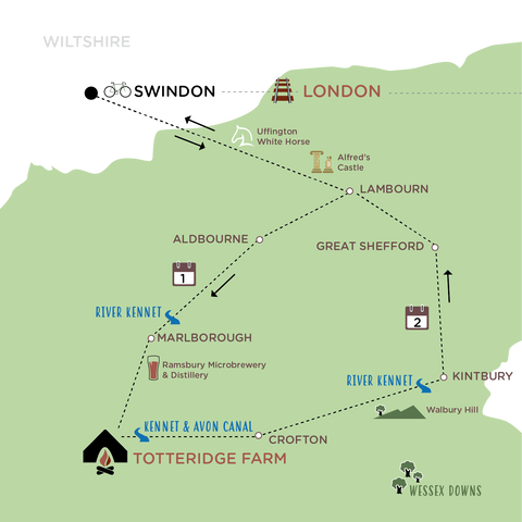 Escape The City to the Wessex Downs map