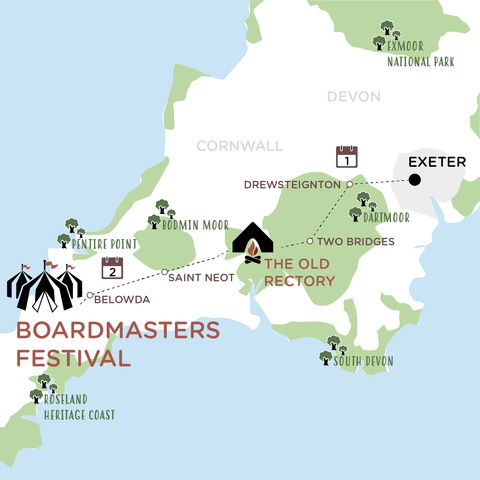 Exeter to Boardmasters 2020