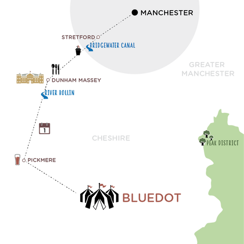 The Route - Manchester to Bluedot