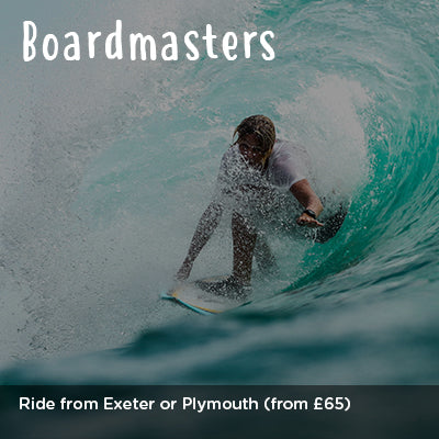 Ride from Plymouth or Exeter to Boardmasters