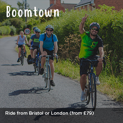 Ride from Bristol or London to Boomtown