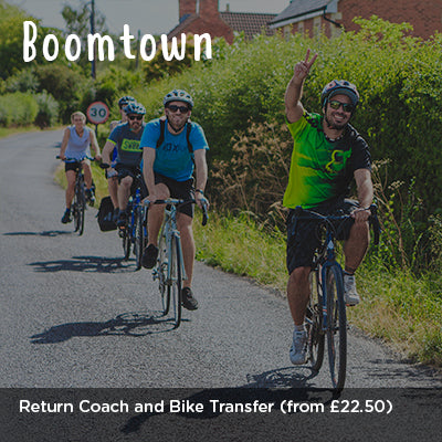 Boomtown Return Coach and Bike Transfer