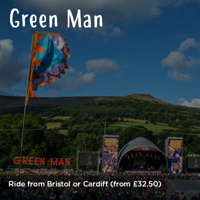 Ride from Bristol or Cardiff to Green Man Festival