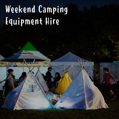 Weekend Camping Equipment Hire (Bluedot)