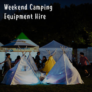 Weekend Camping Equipment Hire (Shindig)