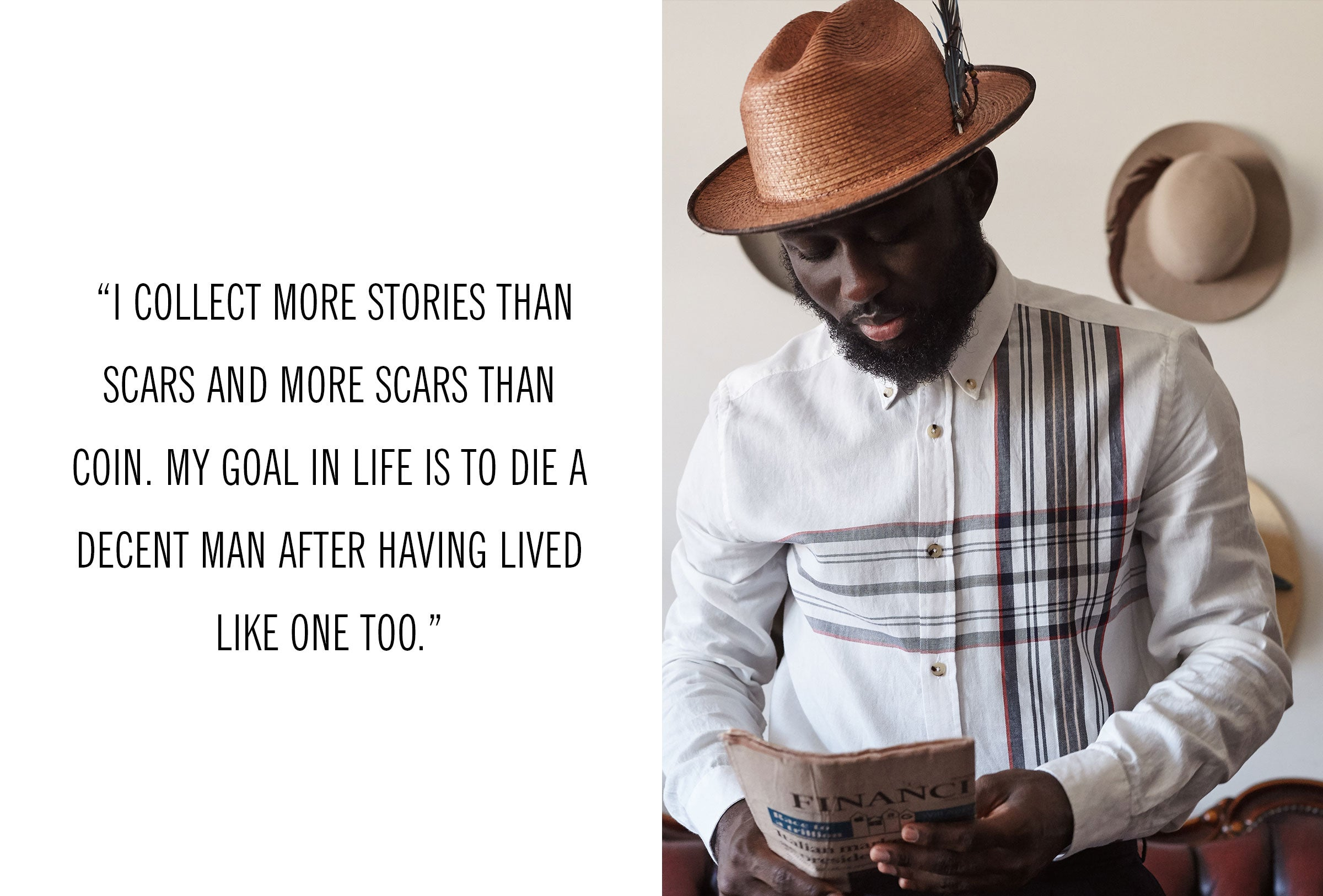"""I collect more stories than scars and more scars than coin."" - Steven Onoja"