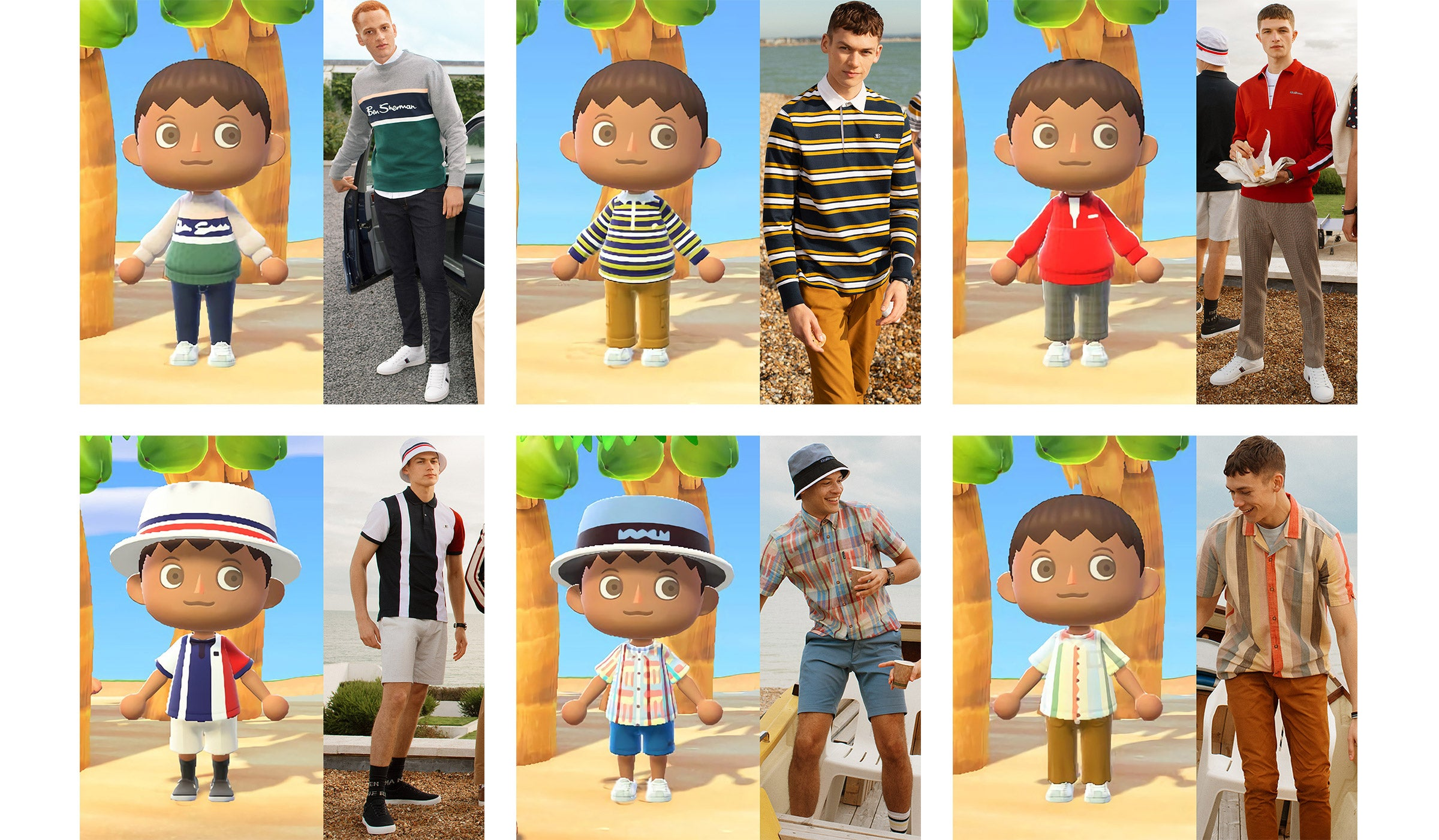 Animal Crossing x Ben Sherman Avatars