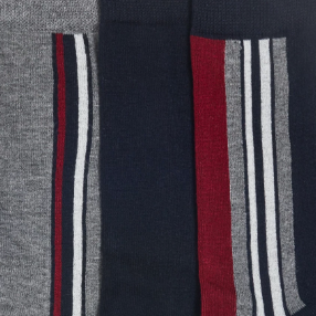 Swatch: Grey/Navy/Red Stripe