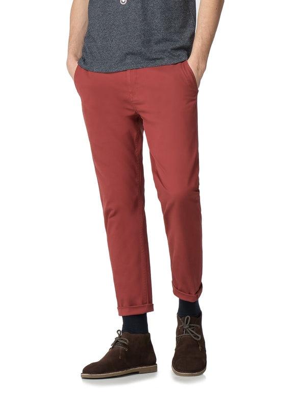 Core Slim Stretch Chino Pant - Rust