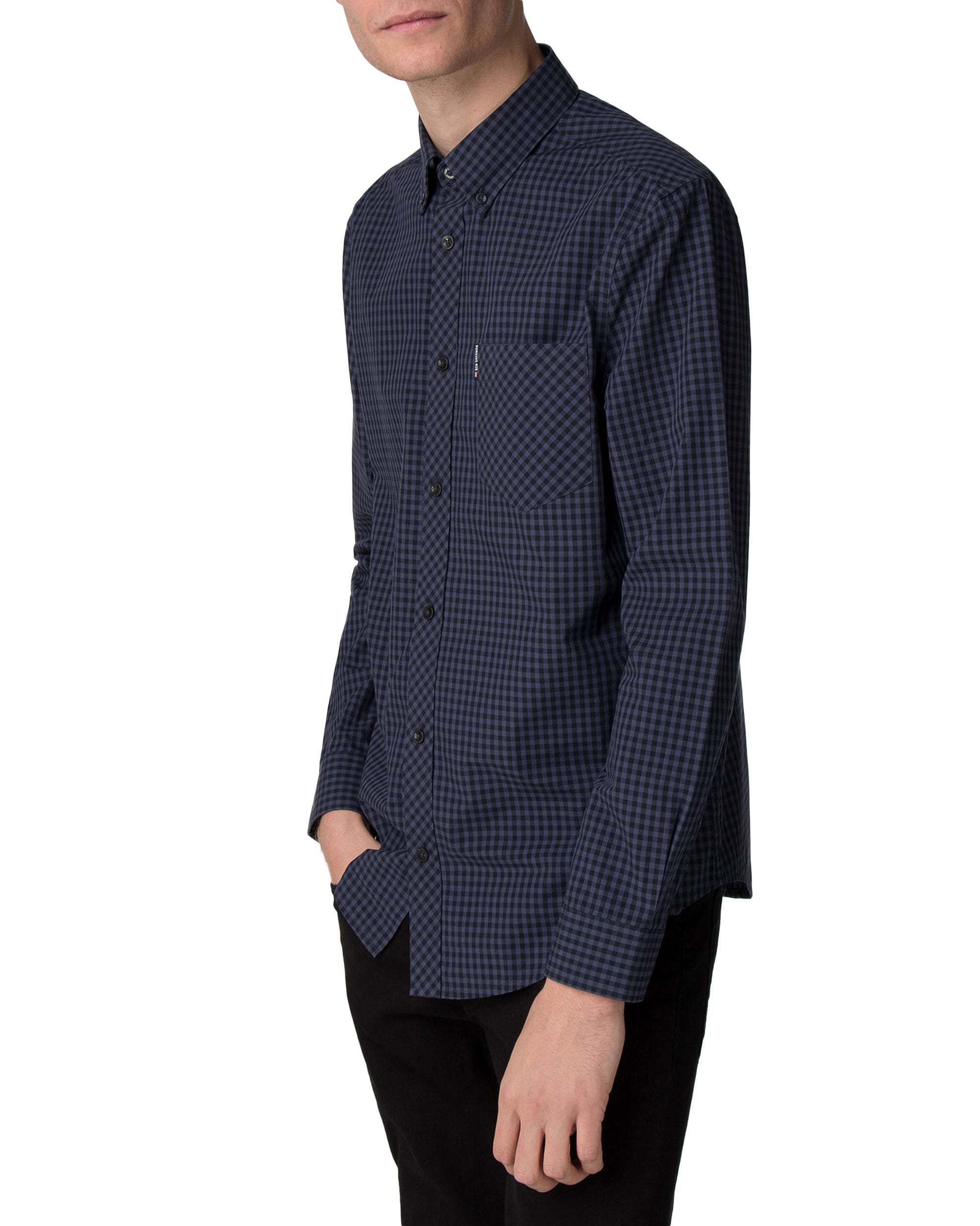 Long-Sleeve Core Gingham Shirt - Phantom