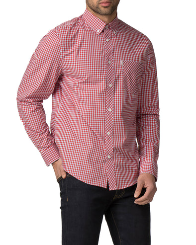 Long-Sleeve Core Gingham Shirt - Letterbox Red