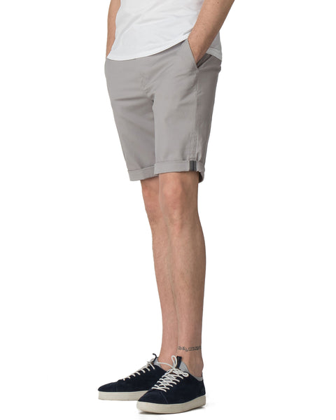Stretch Slim Chino Short - Light Ash