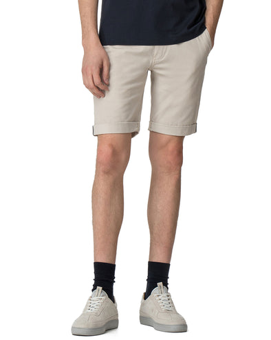 Stretch Slim Chino Short - Light Putty