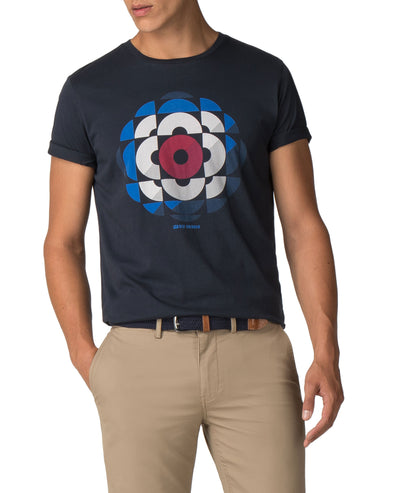 Shadow Target Graphic Tee - Midnight Navy