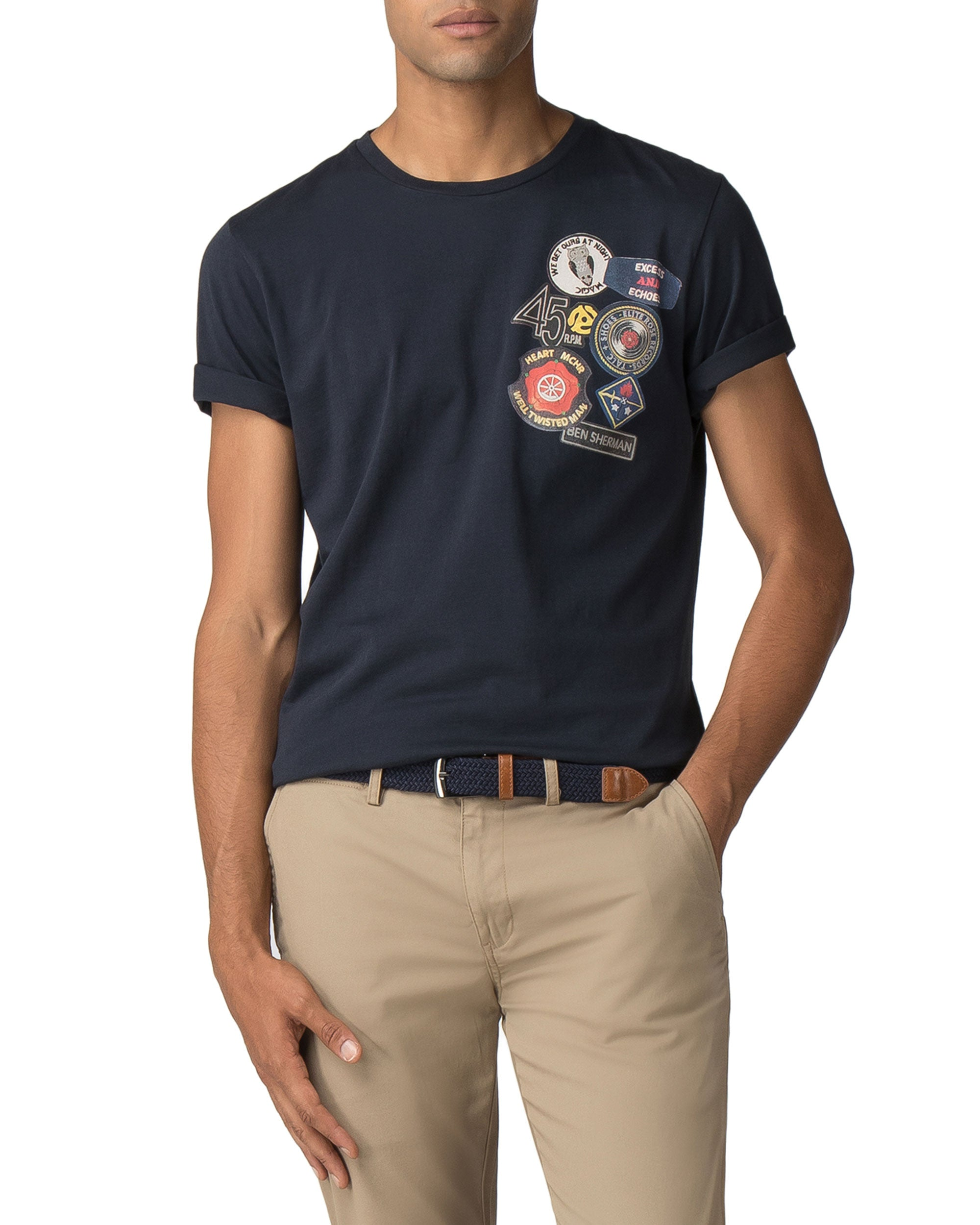 Soul Badges Graphic Tee - Midnight Navy