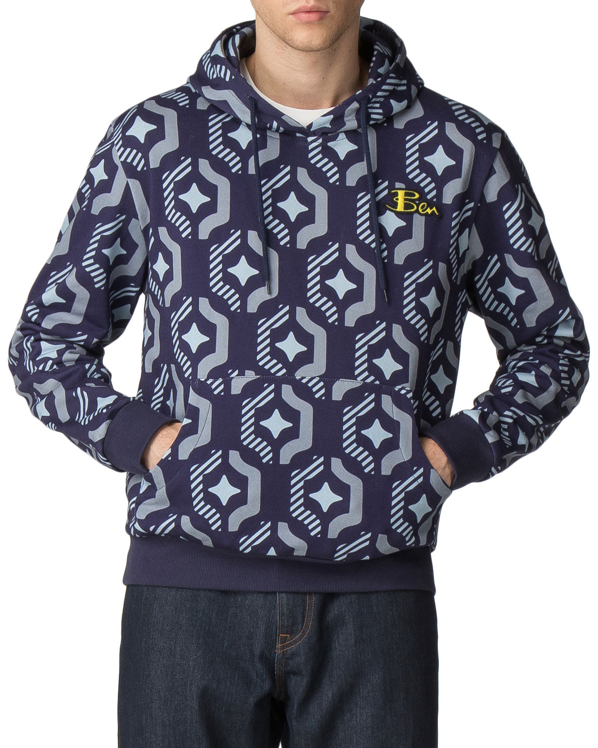 Ben Sherman x House of Holland Geo Wallpaper Printed Hoodie Jacket