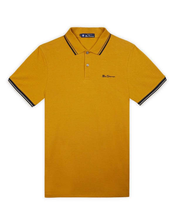 Organic Cotton Signature Polo - Dijon
