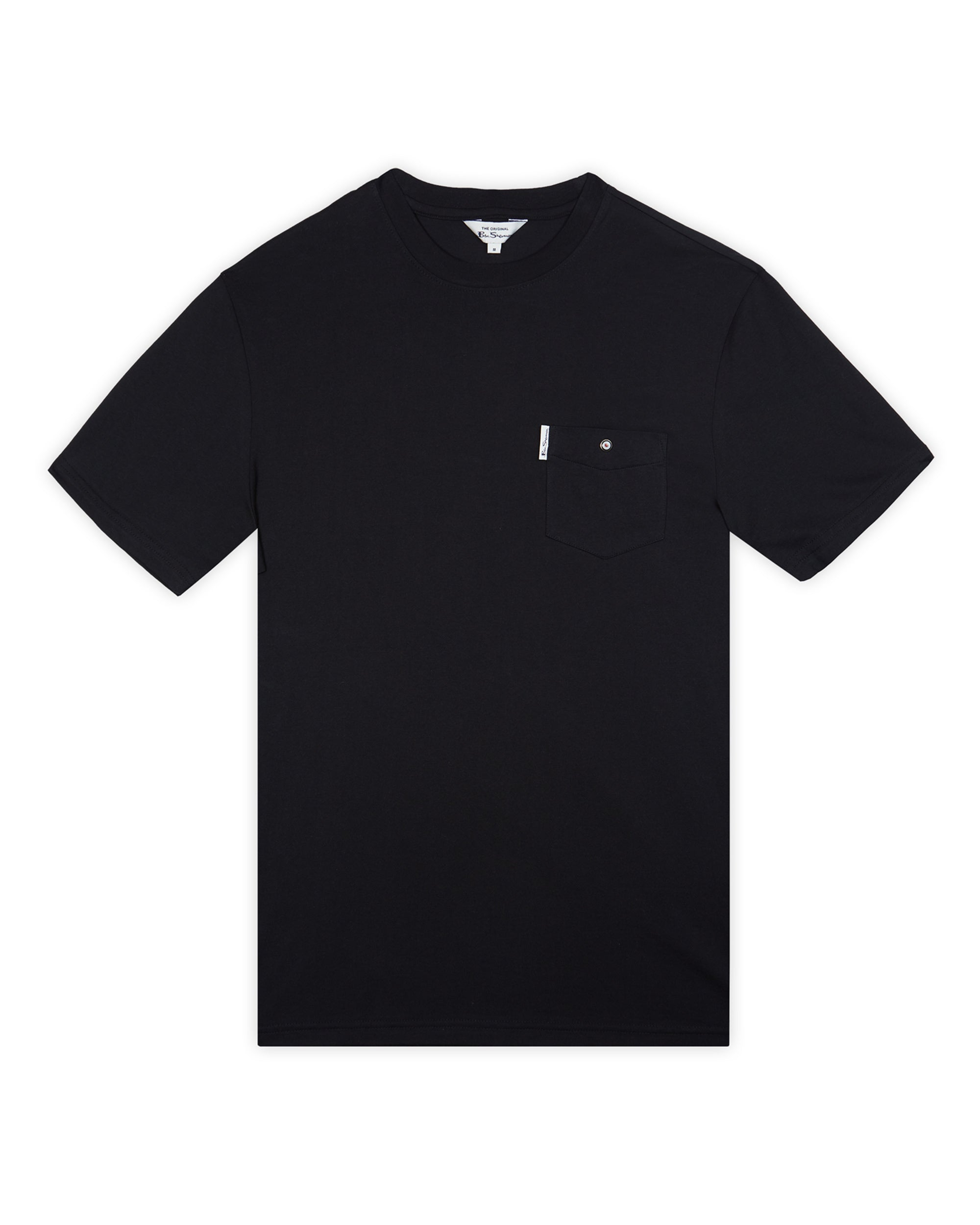 Organic Cotton Signature Pocket Tee - Black