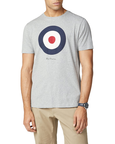 Bulls Eye Target Logo T-Shirt - Heather Grey