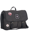 "Military Distressed Canvas 15"" Computer Case / Messenger Bag - Charcoal"