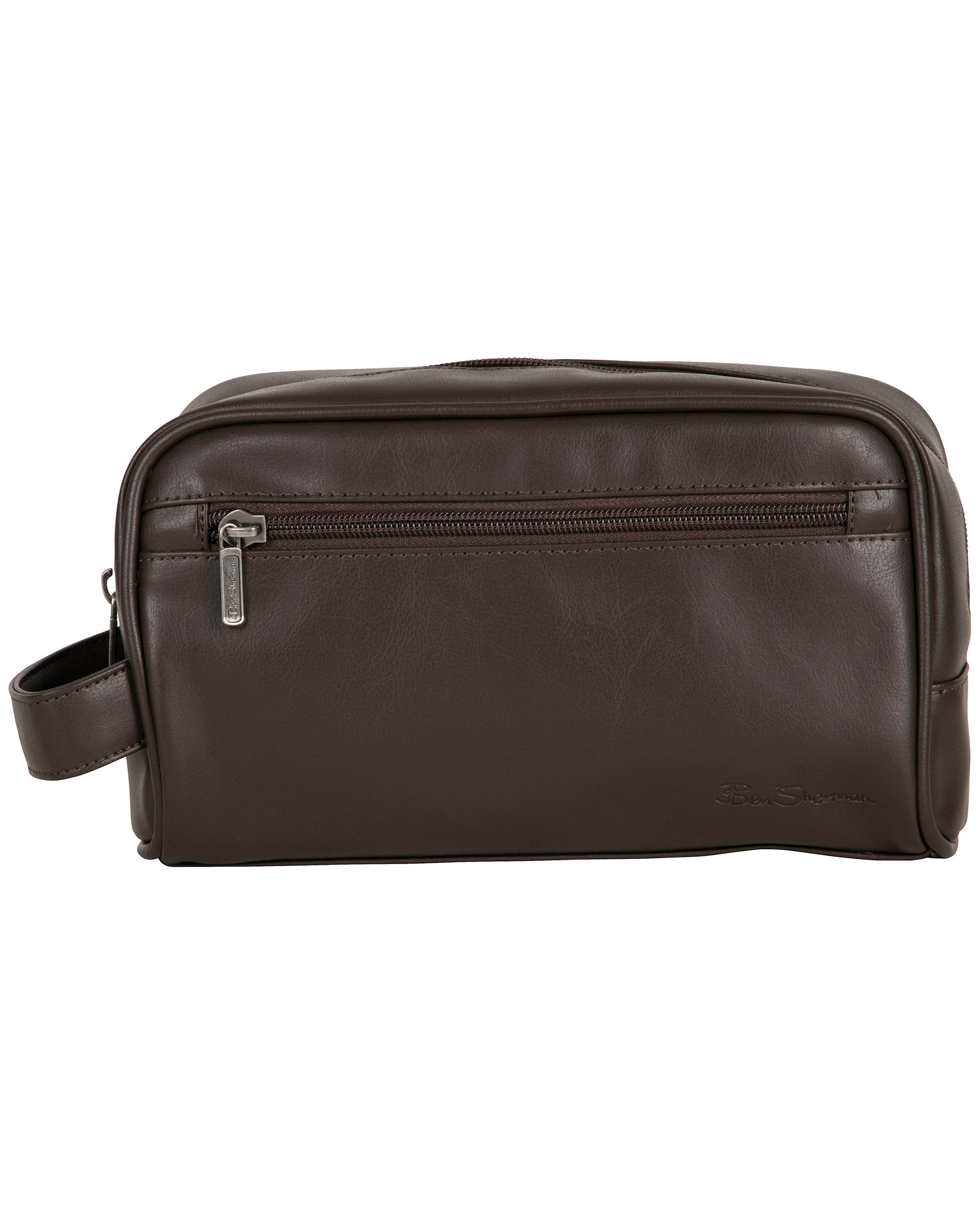 Mayfair Single Compartment Travel Dopp Kit - Brown