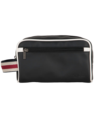 Regent's Park Single-Compartment Travel Dopp Kit - Black/White