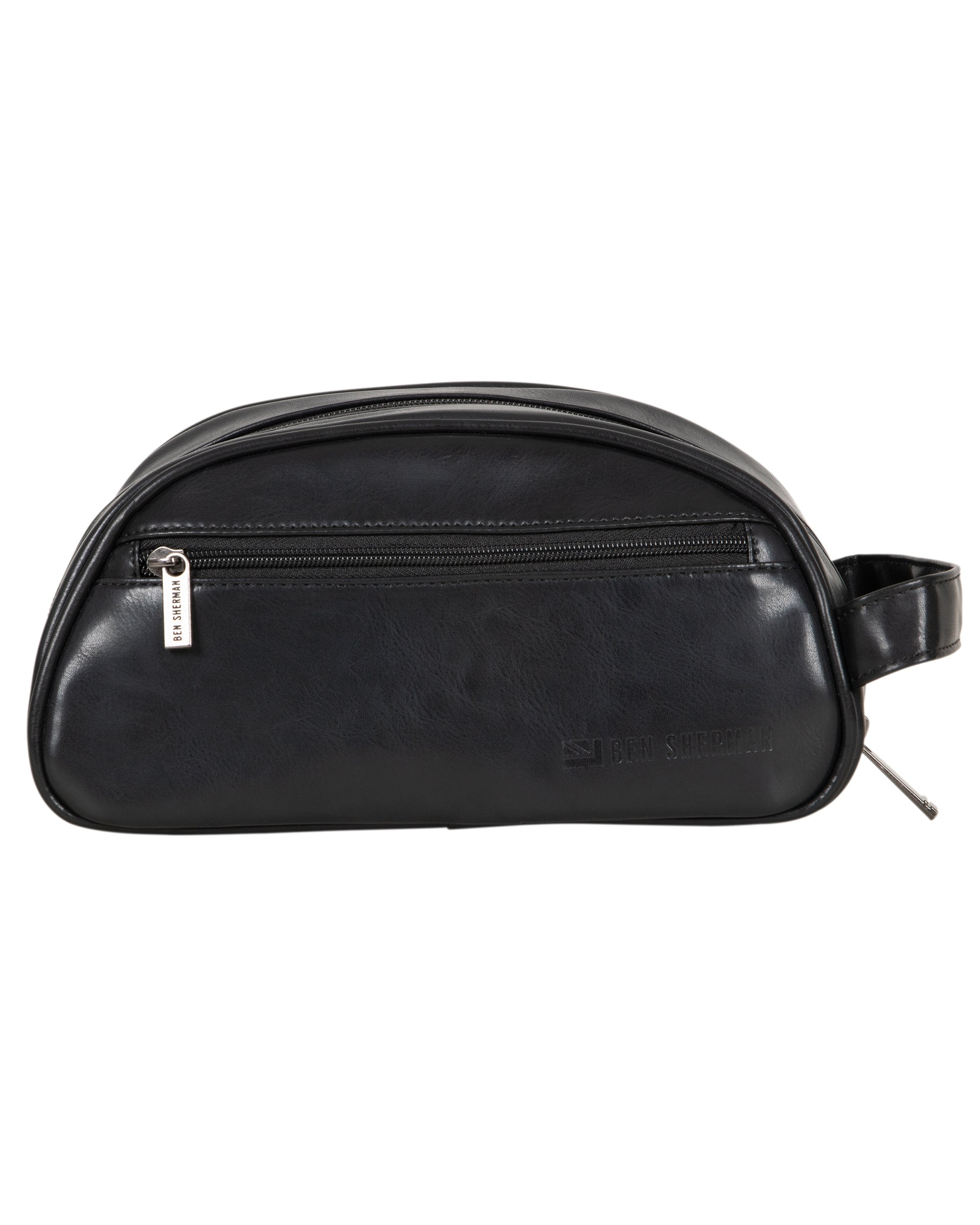 Top Zip Dome-Style Travel Dopp Kit - Black