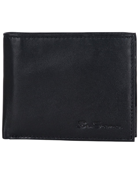 Kensington Sheepskin Leather Passcase Wallet with Flip-up ID Window