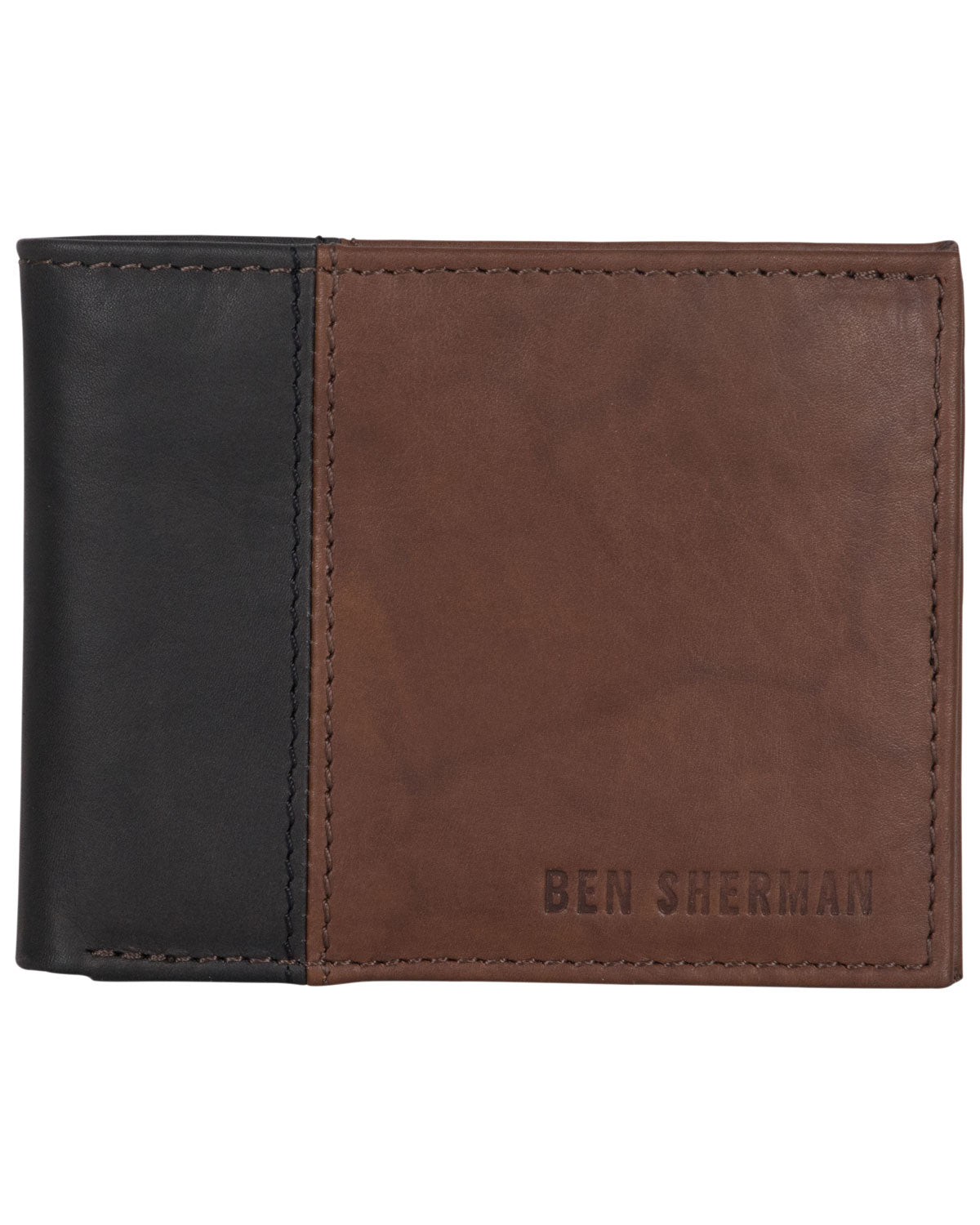 Crayford Colorblock Crunch Leather Bifold Five-Pocket Wallet