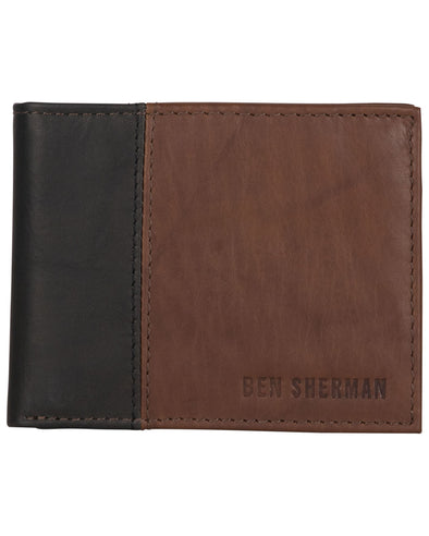 Crayford Colorblock Leather Bifold Wallet with Flip-up ID Window