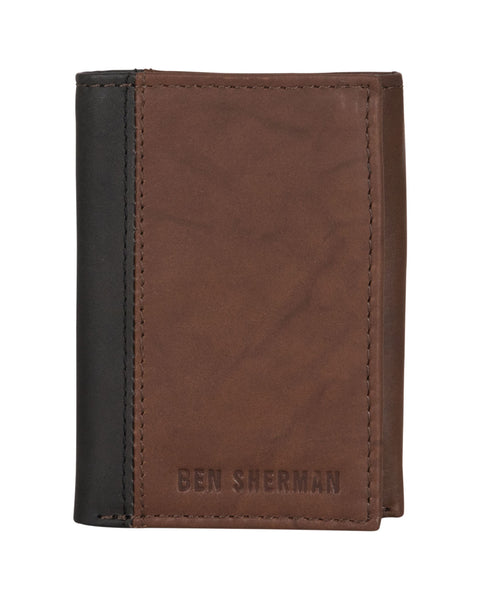 Crayford Colorblock Crunch Leather Trifold Wallet