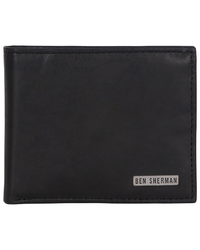 Goddington Crunch Leather Bifold Passcase Wallet - Black