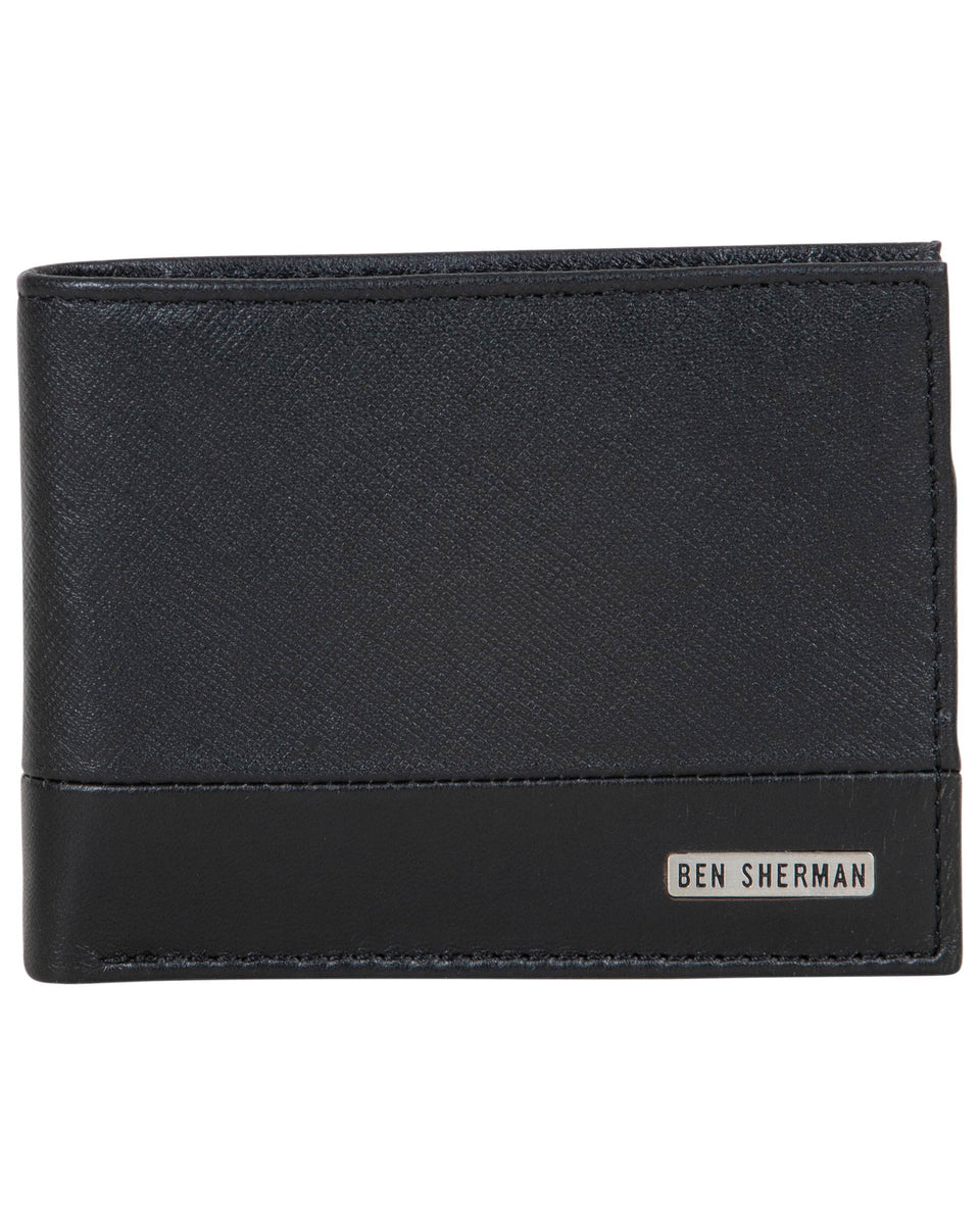 Gift Boxed Black Ben Sherman Mens Zip-around Wallet
