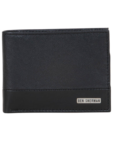 Shadwell Bambino-Fabrino Leather Bifold Wallet - Black