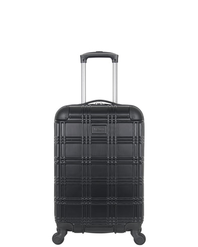 "Nottingham 20"" Embossed Hardside Carry-On Luggage - Black"
