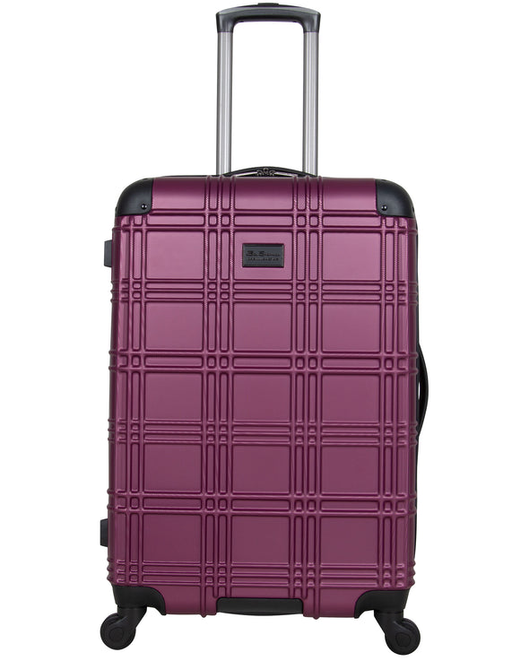 "Nottingham 24"" Embossed Hardside Luggage - Raspberry"